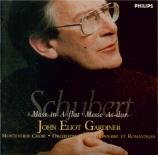 SCHUBERT - Gardiner - Messe n°5 en la bémol majeur, pour solistes, chœur