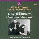 BEETHOVEN - Kraus - Sonate pour violon et piano n°9 op.47 'Kreutzer' Vol.3