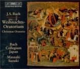 BACH - Suzuki - Oratorio de Noël(Weihnachts-Oratorium), pour solistes