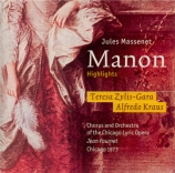 MASSENET - Fournet - Manon : extraits (live Chicago 29 - 9 - 1973) live Chicago 29 - 9 - 1973