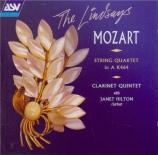 MOZART - Lindsay String - Quintette pour clarinette et cordes en la maj