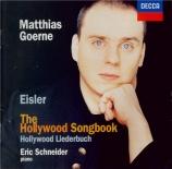 EISLER - Goerne - Das Hollywood Liederbuch