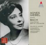 BACH - Giebel - Jauchzet Gott in allen Landen, cantate pour soprano et o