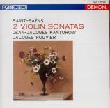SAINT-SAËNS - Rouvier - Sonate pour violon et piano n°1 op.75