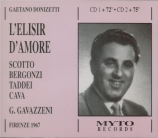 DONIZETTI - Gavazzeni - L'elisir d'amore (L'elixir d'amour) live Florence, 2 - 7 - 1967