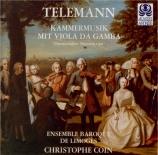 Kammermusik mit Viola da Gamba 'Manuscrit de Darmstadt'