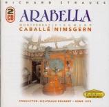 STRAUSS - Rennert - Arabella, opéra op.79 (live RAI Roma 1 - 12 - 73) live RAI Roma 1 - 12 - 73