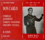 VERDI - Stein - Don Carlo, opéra (version italienne) live Wien 25 - 10 - 70
