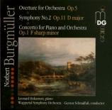 BURGMÜLLER - Schmalfuss - Symphonie n°2 en ré majeur op.11