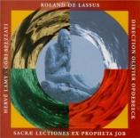 LASSUS - Opdebeeck - Sacrae Lectiones novem ex Propheta Job