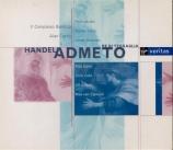 HAENDEL - Curtis - Admeto, re di Tessaglia, opéra en 3 actes HWV.22