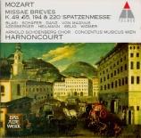 MOZART - Harnoncourt - Missa brevis n°1 en sol majeur, pour solistes, ch
