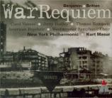 BRITTEN - Masur - War requiem, pour solistes, ensemble de chambre, chœur