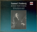 BACH - Feinberg - Le clavier bien tempéré, Livres 1 et 2 BWV 846-893