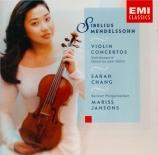 MENDELSSOHN-BARTHOLDY - Jansons - Concerto pour violon et orchestre en m