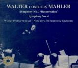 MAHLER - Walter - Symphonie n°2 'Résurrection'