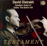 SCHUBERT - Oistrakh - Octuor en fa majeur pour cordes et vents op.posth