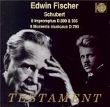 SCHUBERT - Fischer - Quatre impromptus, pour piano op.90 D.899
