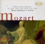 MOZART - Danzi Bläserqui - Divertimento n°8, pour instruments à vent en