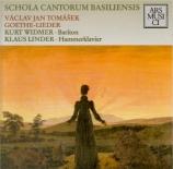 TOMASEK - Widmer - Goethe-Lieder