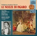 MOZART - Walter - Le nozze di Figaro (Les noces de Figaro), opéra bouffe live Salzburg, 11 - 8 - 37
