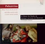 PALESTRINA - Jackson - Missa 'Ut re mi fa sol la'