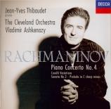 RACHMANINOV - Ashkenazy - Concerto pour piano n°4 en sol mineur op.40