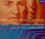 BACH - Schiff - Concerto pour deux clavecins et cordes en do mineur BWV