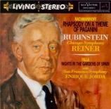RACHMANINOV - Rubinstein - Rhapsodie pour piano et orchestre sur un thèm