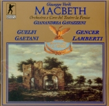 VERDI - Gavazzeni - Macbeth, opéra en quatre actes (version italienne) Live Venezia, 9 - 4 - 1968