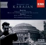 BARTOK - Karajan - Musique pour cordes, percussions et celesta Sz.106 BB