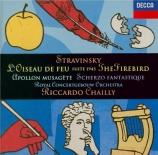 STRAVINSKY - Chailly - L'oiseau de feu, suite symphonique pour orchestre