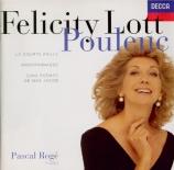 POULENC - Lott - Montparnasse, pour voix et piano sur un poème d'Apollin