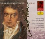 Arrangements de chants populaires Complete Beethoven Edition Vol.17