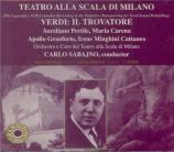 VERDI - Sabajno - Il trovatore, opéra en quatre actes (version originale