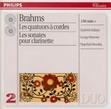 BRAHMS - Quartetto Itali - Quatuor à cordes n°1 en do mineur op.51 n°1