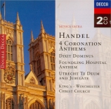 HAENDEL - Willcocks - Coronation anthems (intégrale)