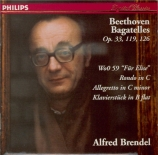 BEETHOVEN - Brendel - Sept bagatelles pour piano op.33