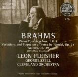 BRAHMS - Fleisher - Concerto pour piano et orchestre n°1 en ré mineur op