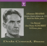 BRAHMS - Conrad - Ernste Gesänge, quatre chants sérieux pour basse solo