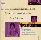 TANSMAN - Vaglenova - Sonatine pour basson et piano