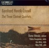 CRUSELL - Vänskä - Quatuor avec clarinette n°1 op.2
