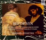 BEETHOVEN - Pasquier - Sonate pour violon et piano n°1 op.12 n°1