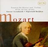 MOZART - Leonhardt - Sonate pour violon et piano n°14 en mi bémol majeur