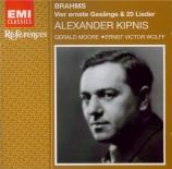 BRAHMS - Kipnis - Ernste Gesänge, quatre chants sérieux pour basse solo