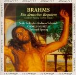 BRAHMS - Spering - Ein deutsches Requiem (Un Requiem allemand), pour sol version de Londres