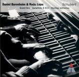 SCHUBERT - Barenboim - Trois marches militaires, pour piano (quatre main
