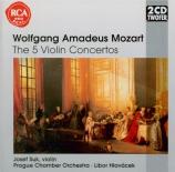 MOZART - Suk - Concerto pour violon et orchestre n°1 en si bémol majeur