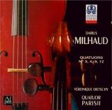 MILHAUD - Quatuor Parisii - Quatuor à cordes n°12 op.252