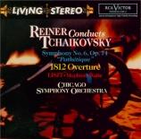 TCHAIKOVSKY - Reiner - Symphonie n°6 en si mineur op.74 'Pathétique'